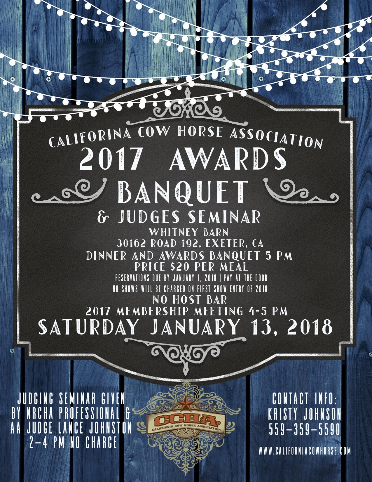 2017 Awards Banquet Poster